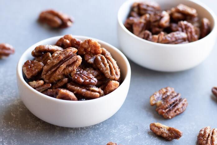 орехи пекан в карамели
