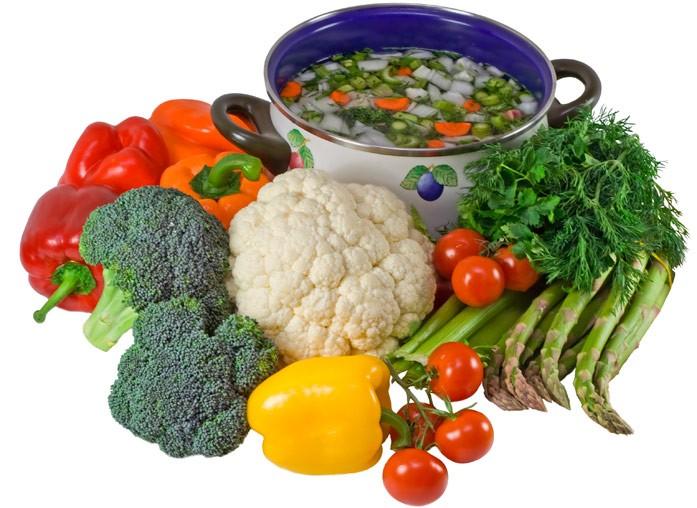 овощи исуп в кастрюльке