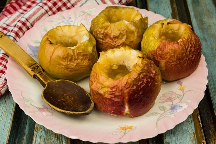 фото печёные яблоки