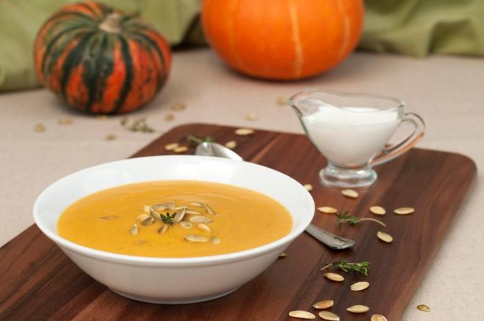 тыквенный суп с семечками