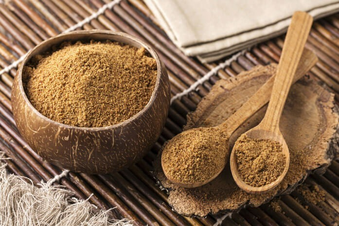 особенности кокосового сахара: цвет, консистенция, дисперсность