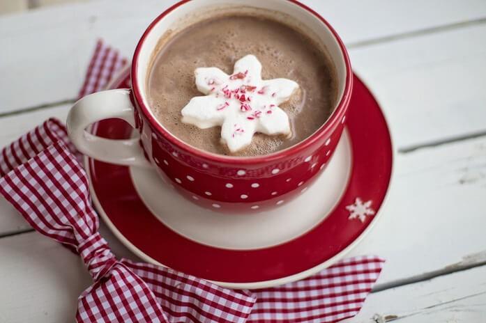 горячий шоколад в рождество