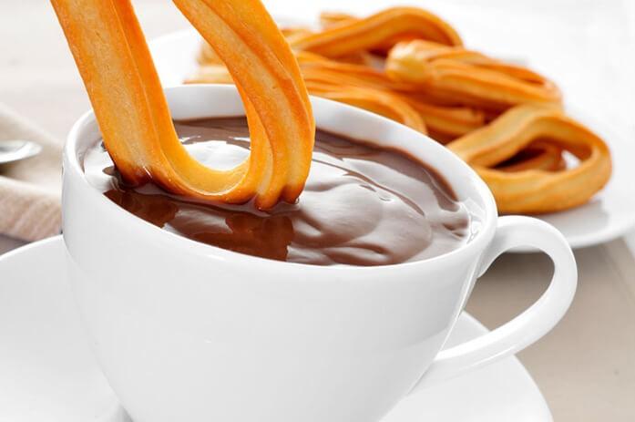 чуррос с горячим шоколадом