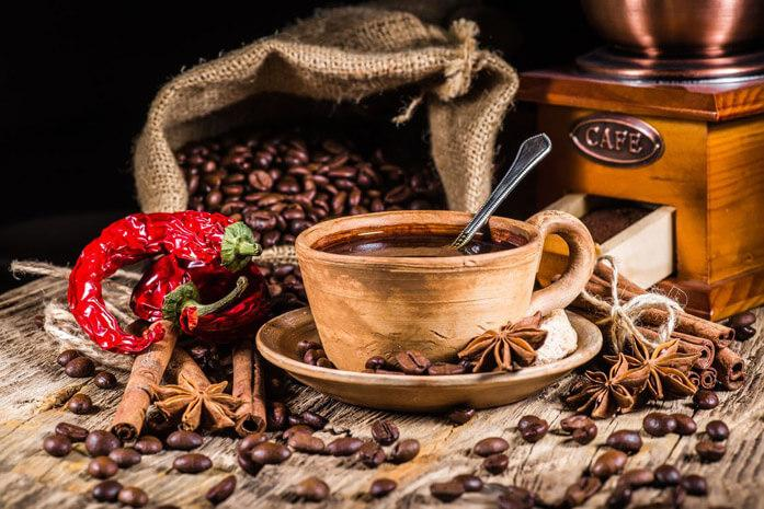 кофе с чили и цветочным мёдом