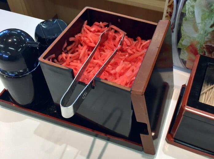 имбирь для суши в коробке