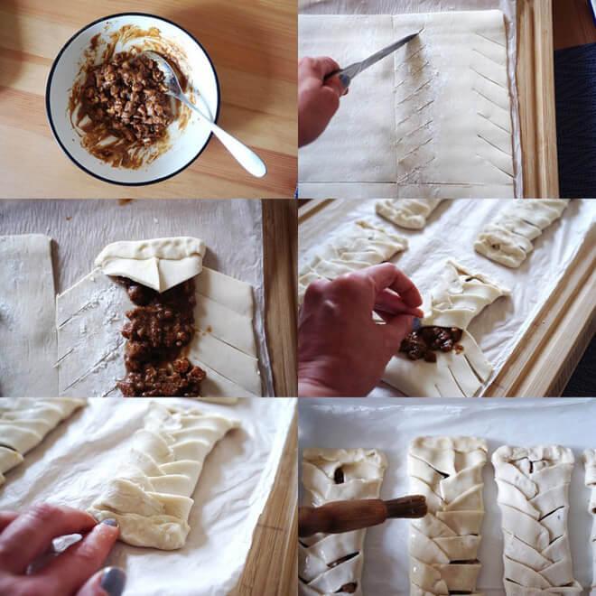 этапы приготовления слоек с пеканом (пошаговый фоторецепт)